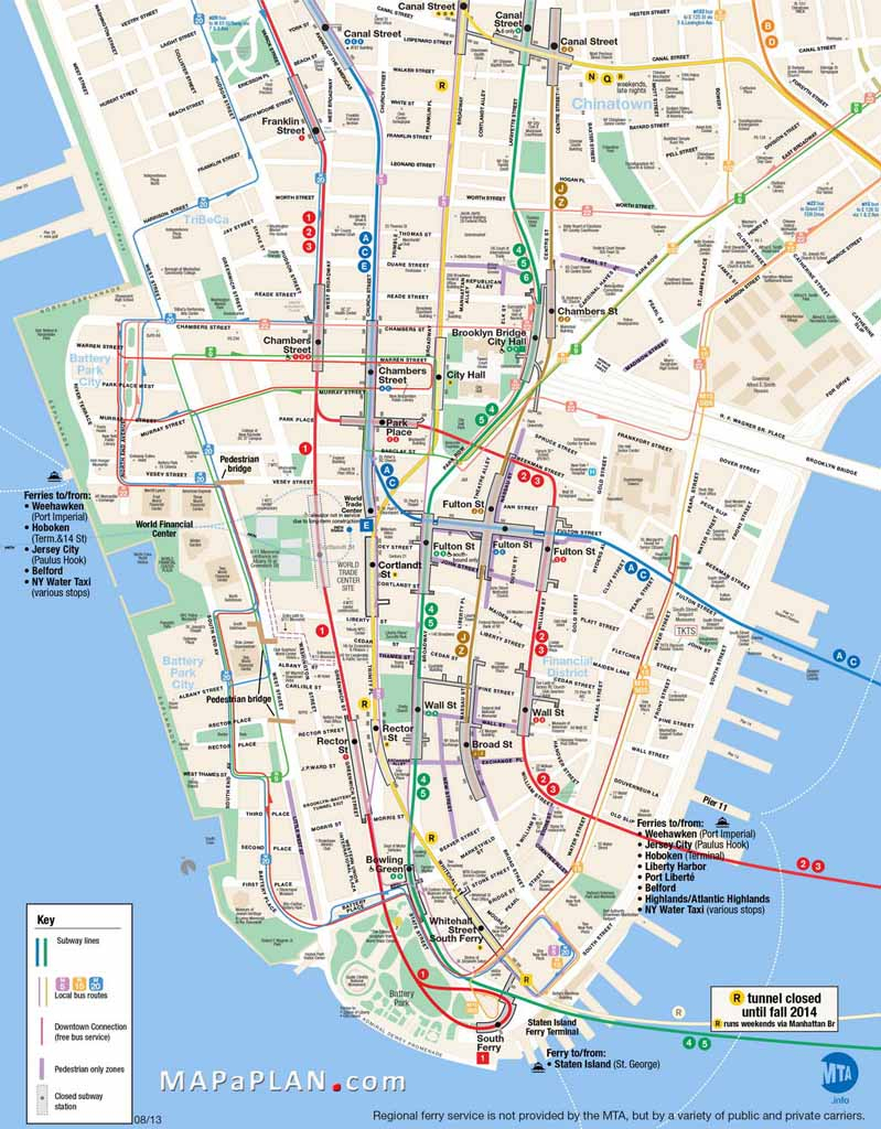 Printable Map Of Manhattan Ny   Travel Maps And Major Tourist - Free Printable Map Of Manhattan