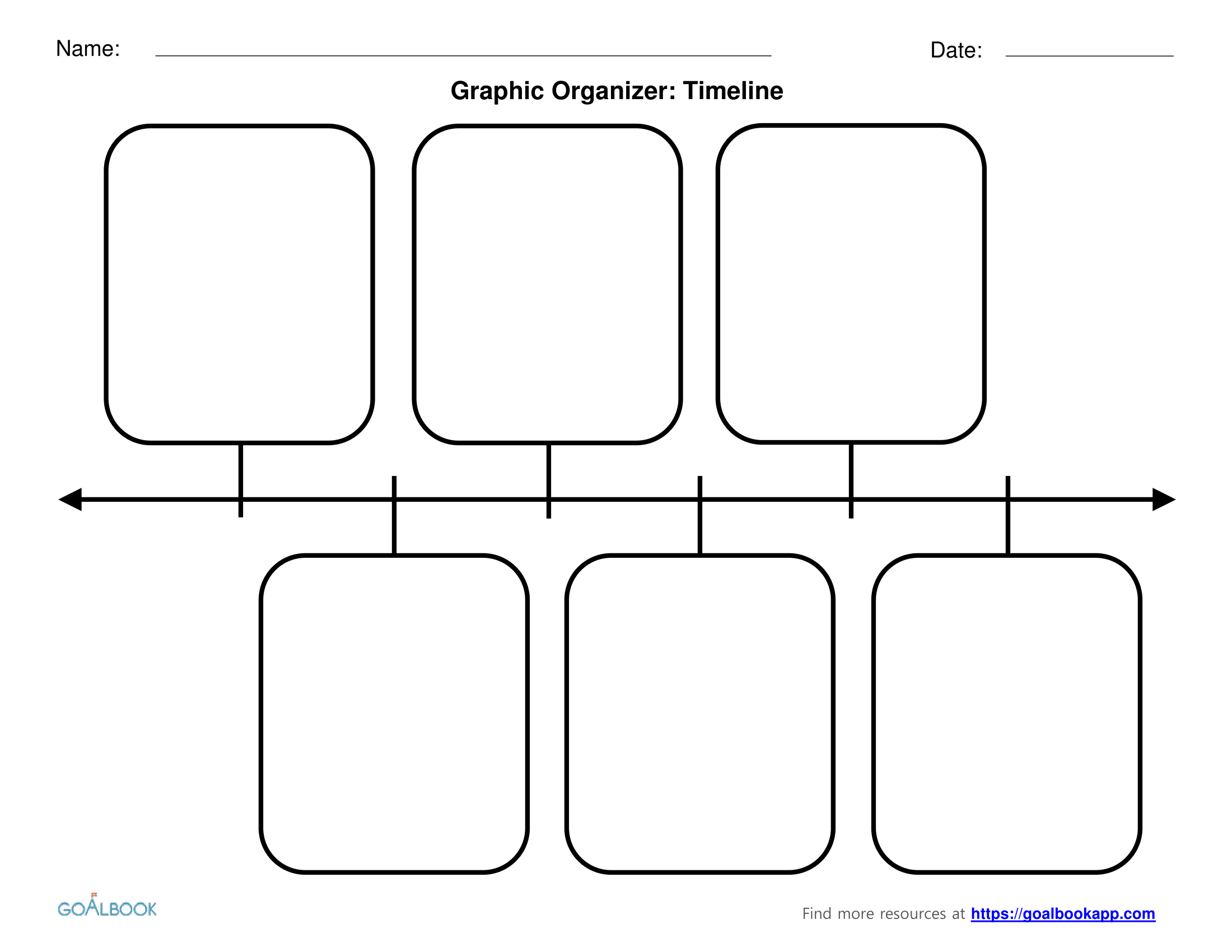 Printable Math Graphic Organizers 03 Timeline Blank ~ Themarketonholly - Free Printable Graphic Organizers