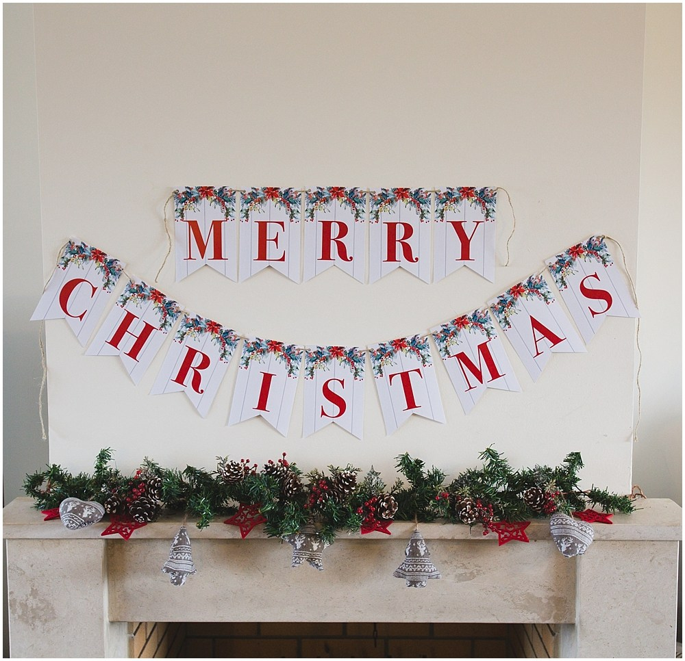 Printable Merry Christmas Banner - Six Clever Sisters - Free Printable Christmas Banner