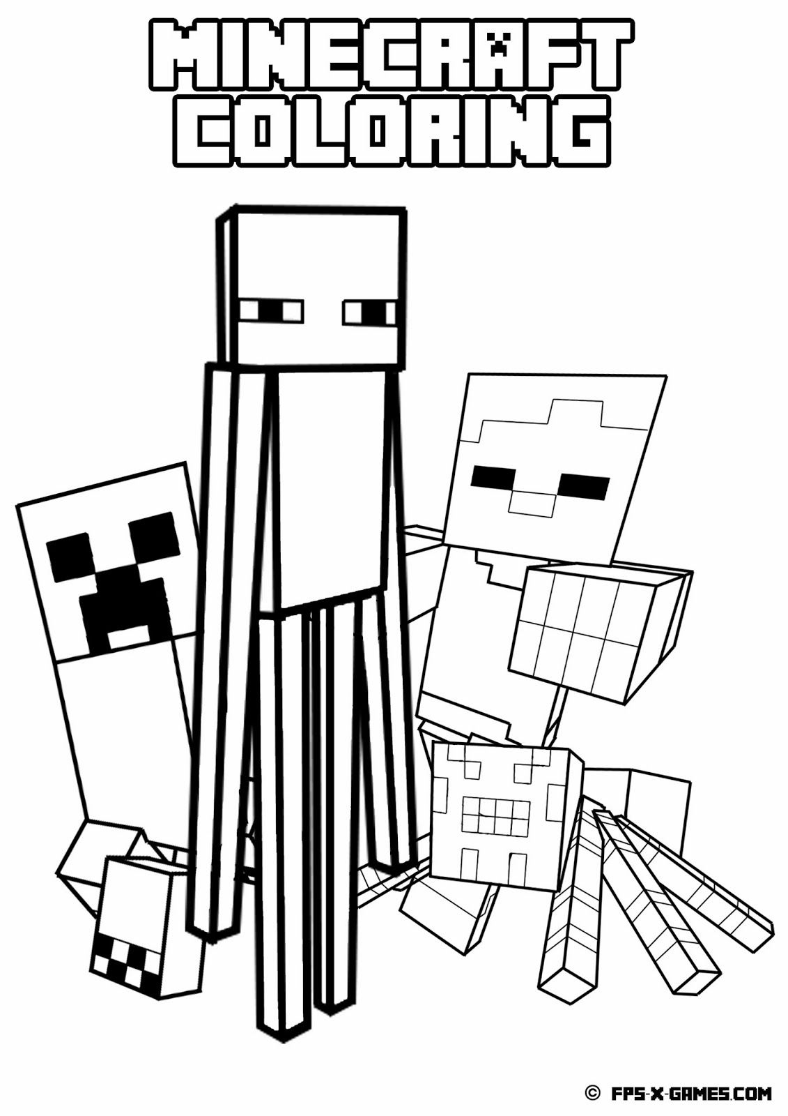 Printable Minecraft Coloring - Mob | Minecraft | Pinterest - Free Printable Minecraft Activity Pages