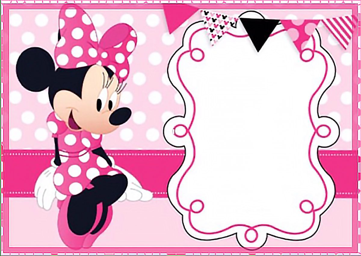 Printable Minnie Mouse Birthday Party Invitation Template - Free - Free Printable Minnie Mouse Party Invitations