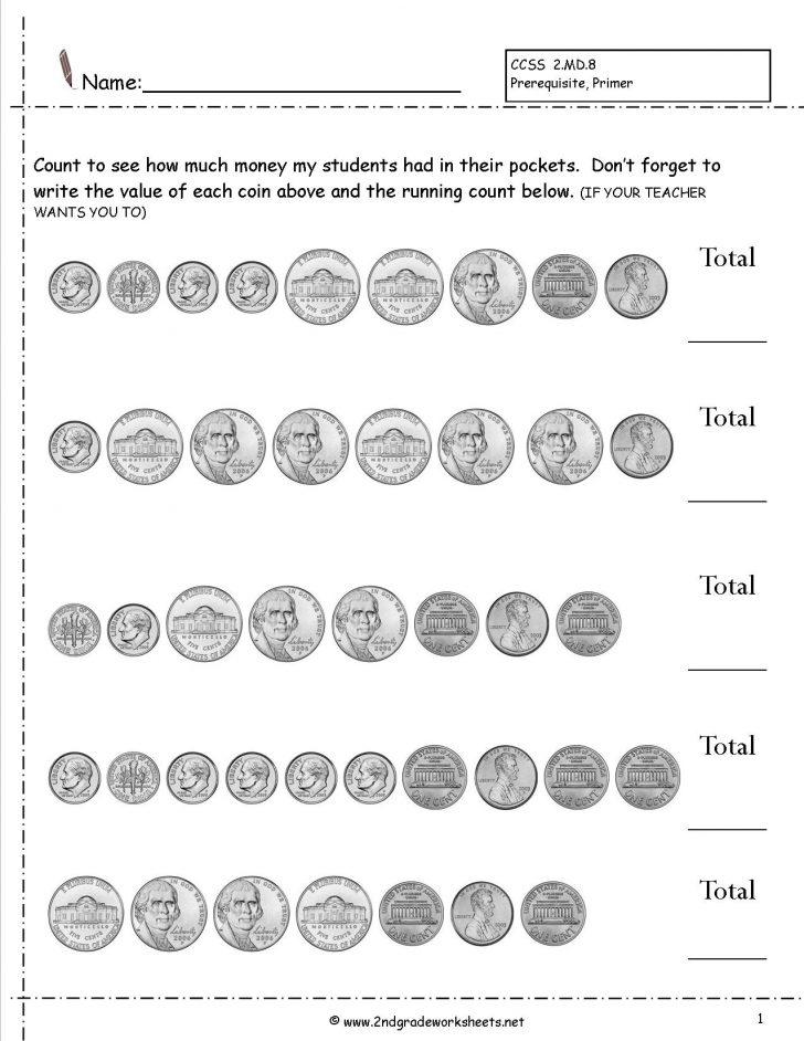 Free Printable Money Worksheets For Kindergarten