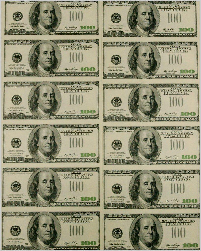 Printable Money Template Printable Money Template 321874 Best S Of - Free Printable 100 Dollar Bill