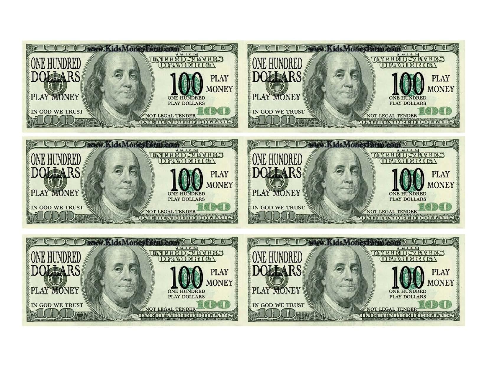 Printable Money Template   Resume Free Templates Pics Photo To Print - Free Printable Money