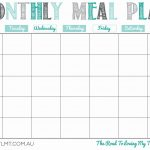 Printable Monthly Meal Planner | Organization In 2019 | Meal Planner   Free Printable Monthly Meal Planner