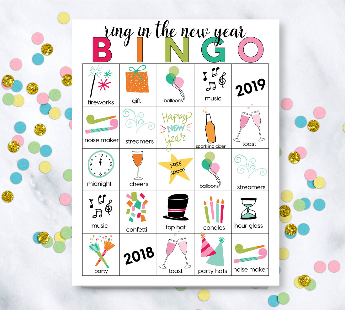 Printable New Year's Eve Bingo Sheets - Free Bingo Patterns Printable