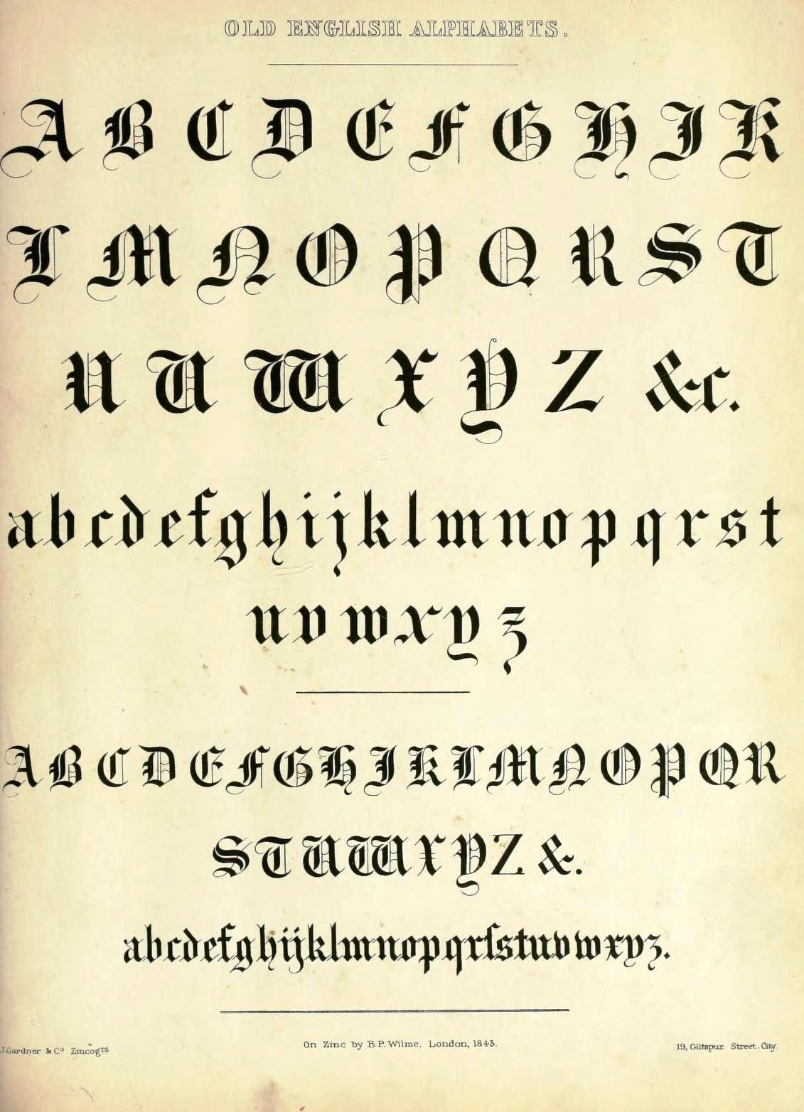 image relating to Printable Old English Letters known as Printable Aged English Font Thus, As a result Incredible Typography