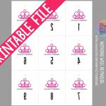Printable: Paparazzi Forward And Reverse Mirror Image Pink | Etsy   Free Printable Mirrored Numbers