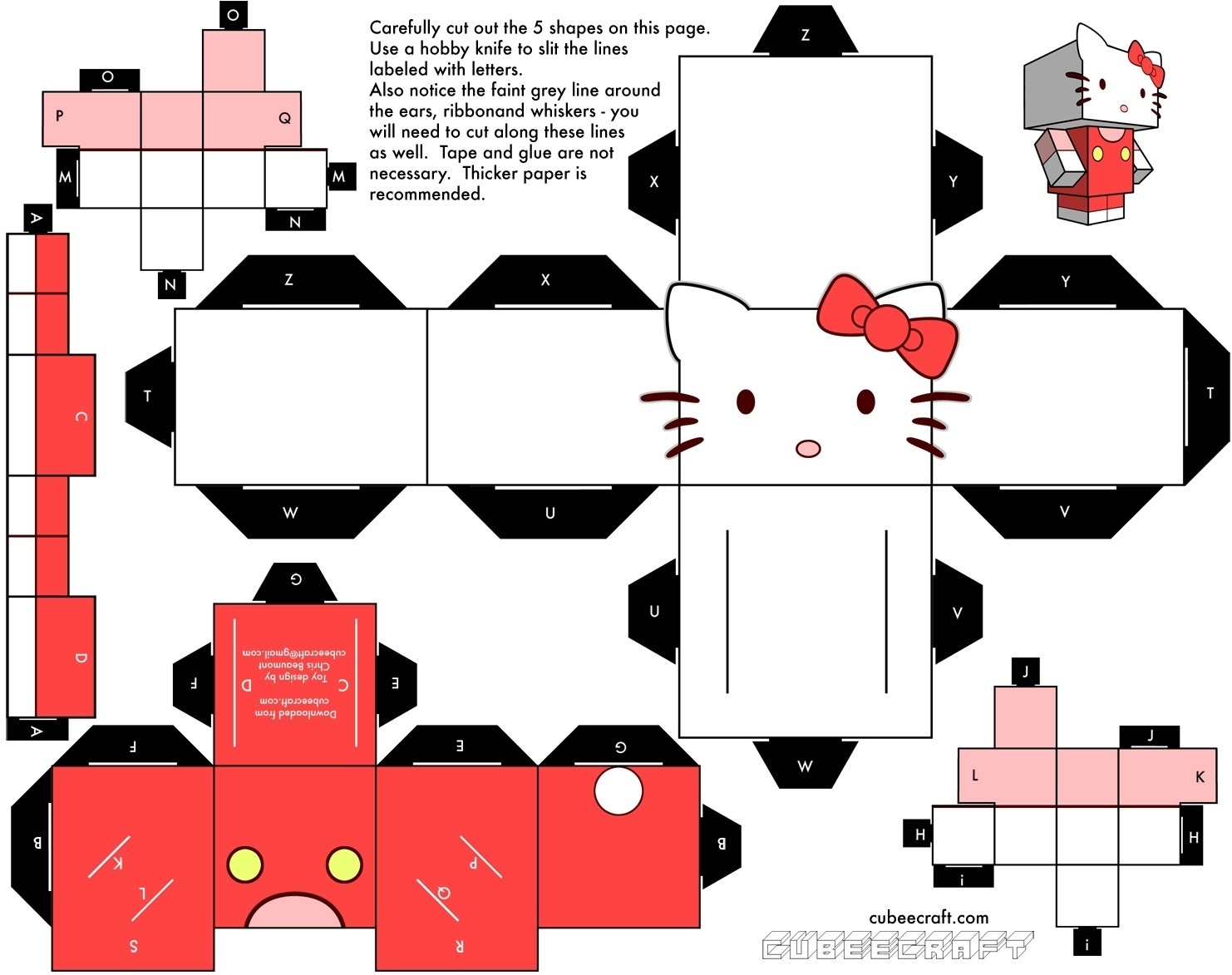 Printable Paper Crafts Templates | Chart And Printable World - Printable Paper Crafts Free
