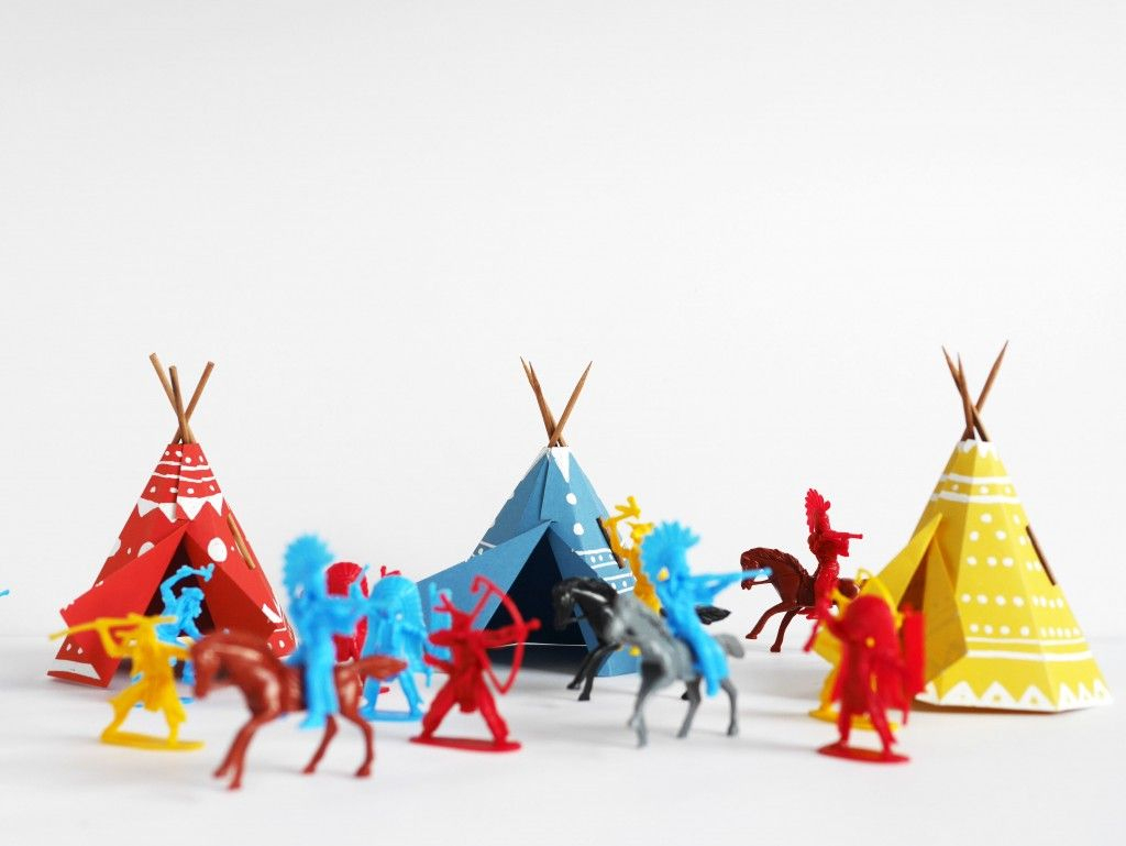 Printable Papercraft Teepee Village   Do It Yourself's   Paper - Free Printable Teepee