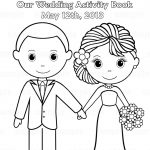 Printable Personalized Wedding Coloring Activity Book Favor Kids 8.5   Free Printable Personalized Children's Books