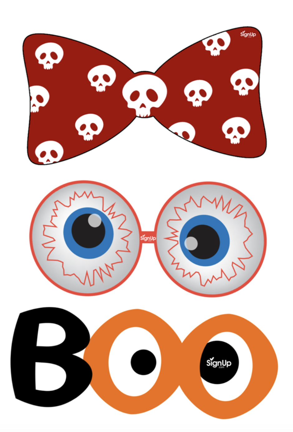Printable Photobooth Props: Halloween Party Craft Activity   Signup - Free Photo Booth Props Printable Pdf