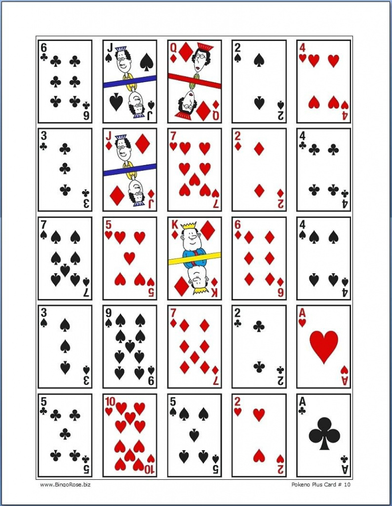 Printable Pokeno Playing Cards Card Maker Software Main Fine - Free Printable Pokeno Game Cards