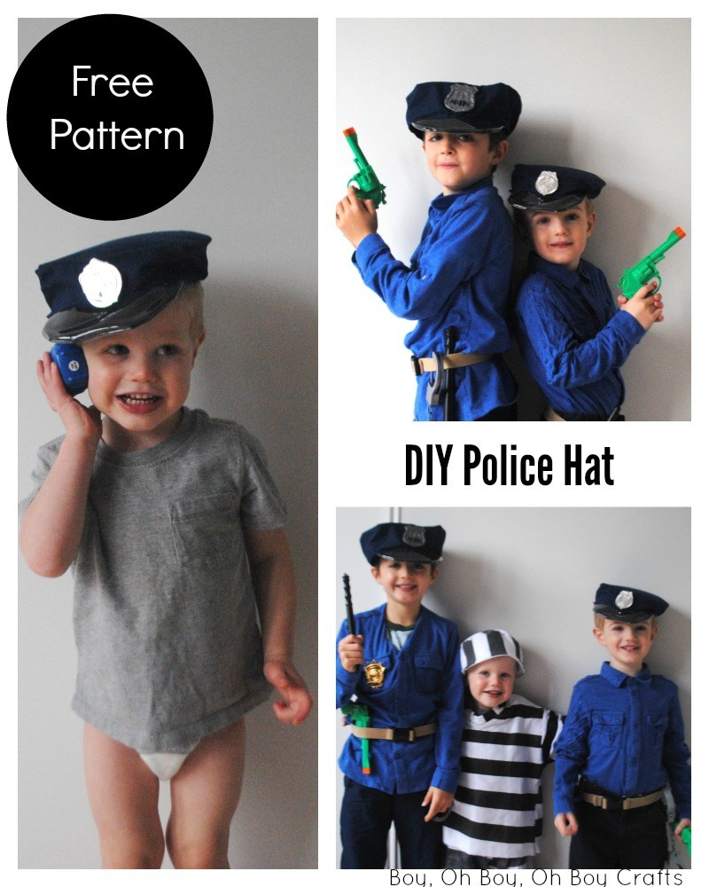 Printable Police Hat Sewing Pattern - Beatnik Kids - Free Printable Police Hat