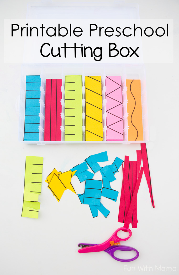 Printable Preschool Cutting Busy Box - Fun With Mama - Free Printable Fine Motor Skills Worksheets