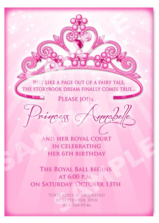 Printable Princess Invitation Cards | Birthday Party Ideas - Free Printable Princess Invitation Cards