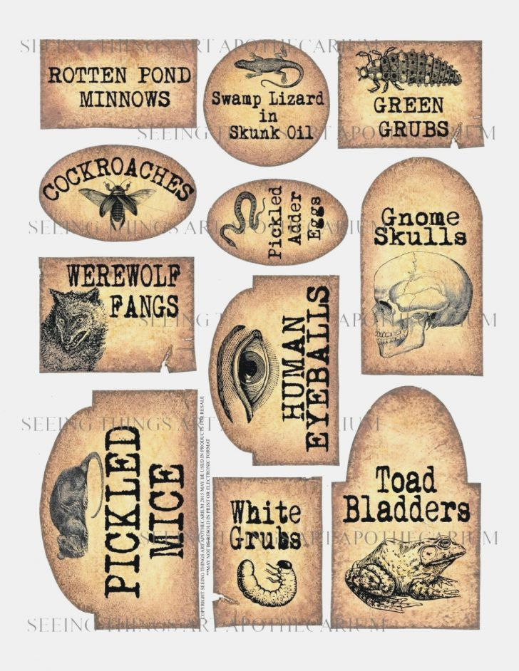 Free Printable Apothecary Jar Labels