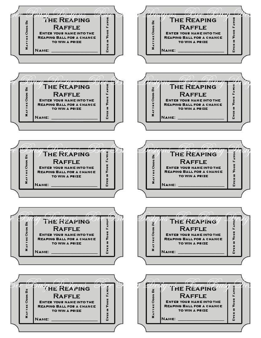 Printable Raffle Tickets Pdf Free | Download Them Or Print - Free Printable Raffle Tickets