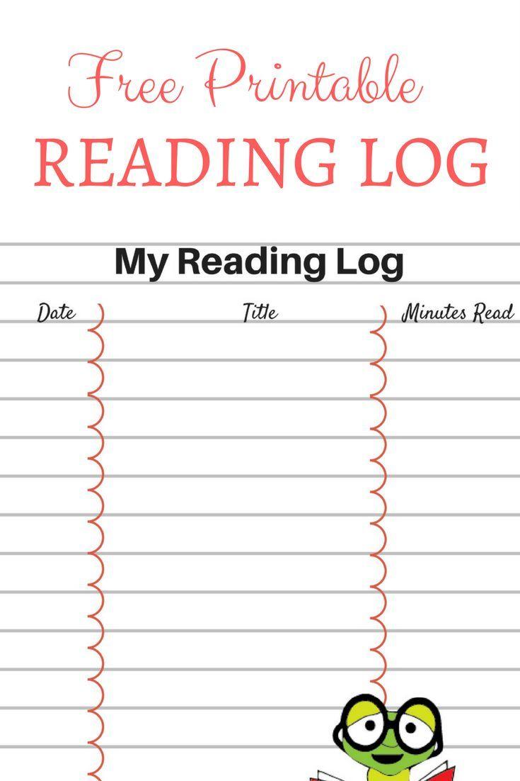 Printable Reading Log For Your Children | Printables | Printables - Free Printable Reading Log