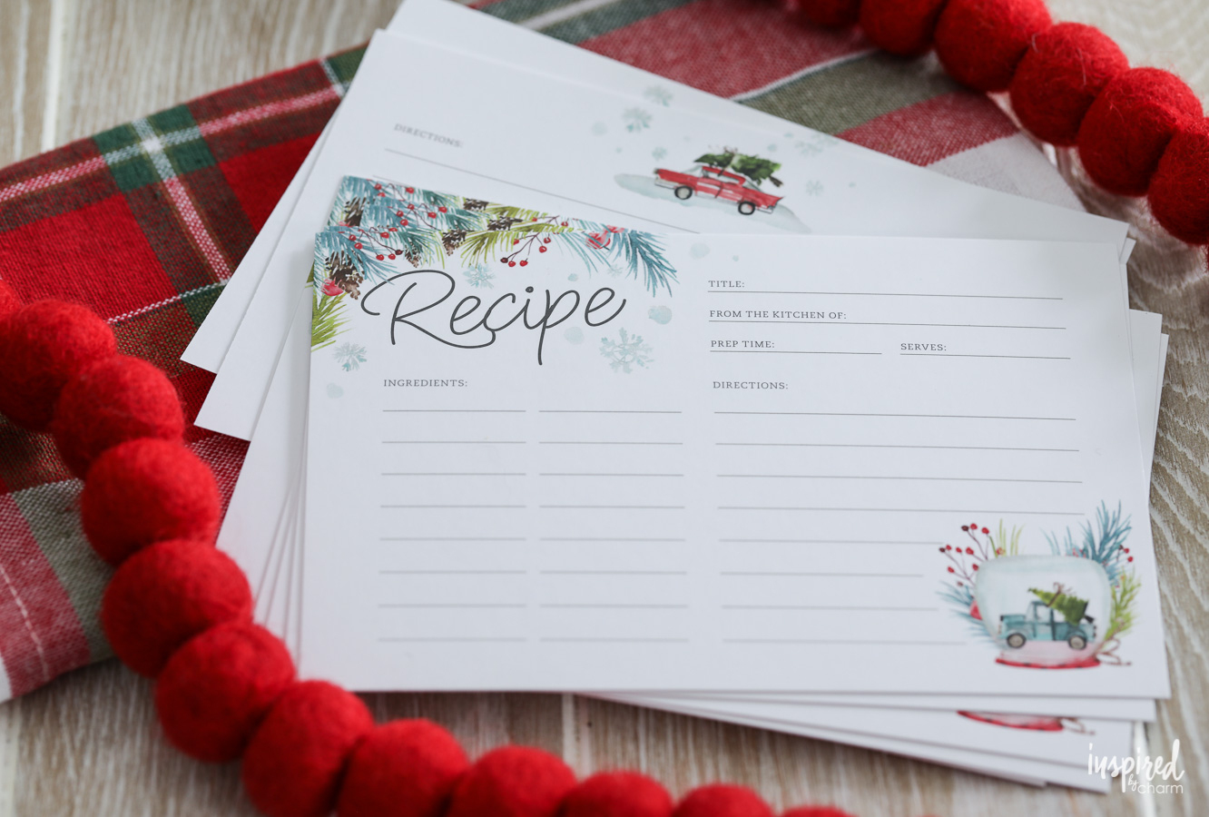 Printable Recipe Cards For Christmas - Free Holiday Download - Free Printable Cards No Download Required