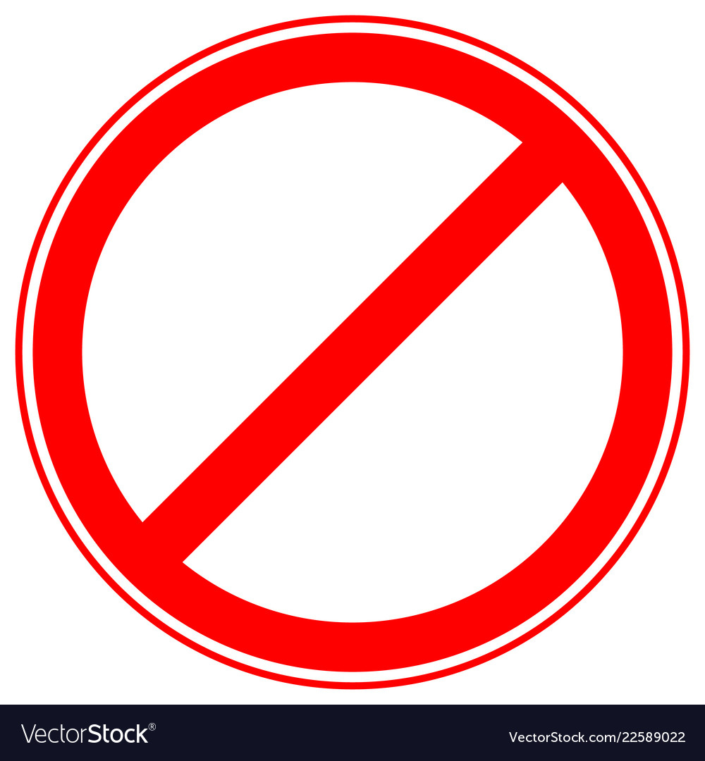 Printable Restriction Prohibition Signs Royalty Free Vector - Free Printable No Entry Sign