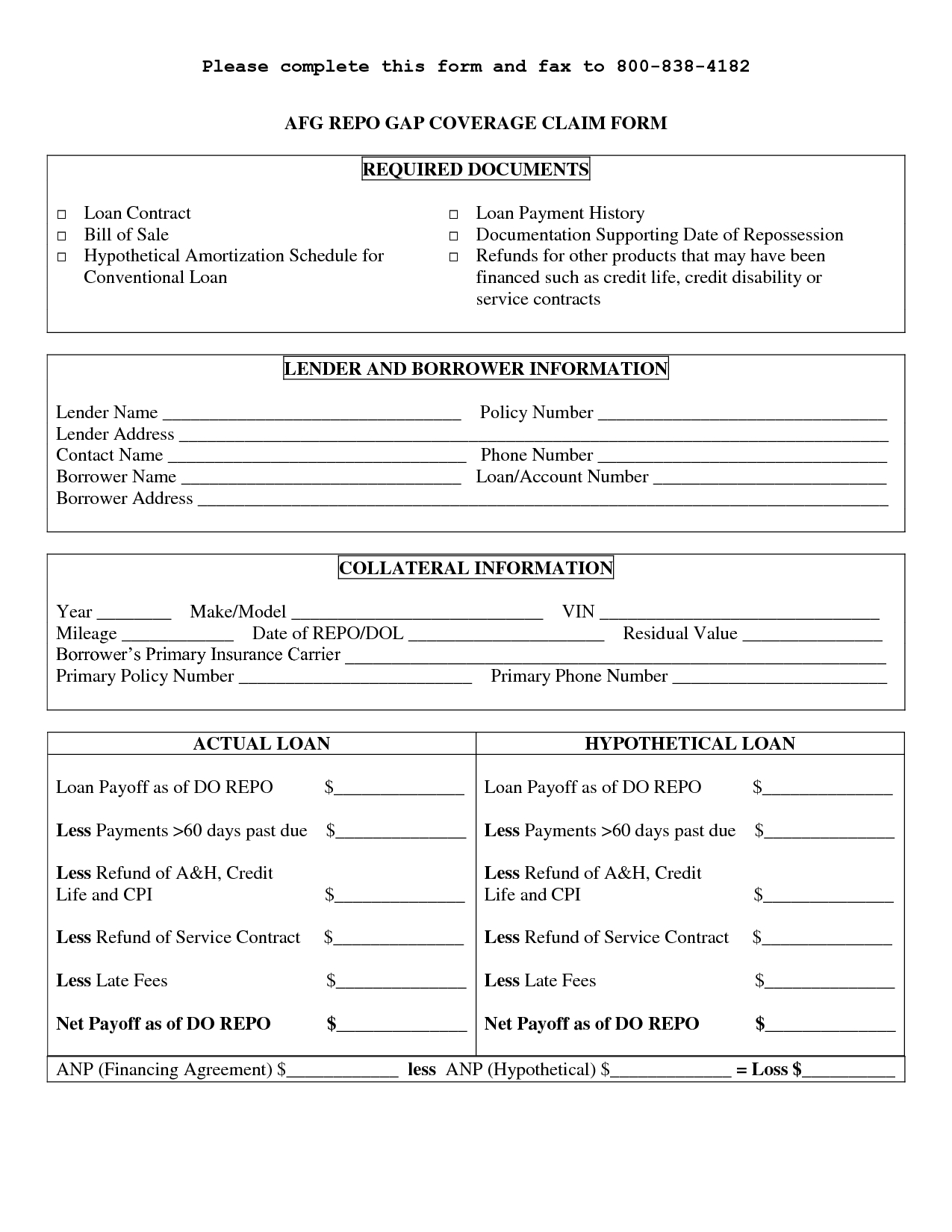 Printable Sample Personal Loan Contract Form | Laywers Template - Free Printable Personal Loan Forms