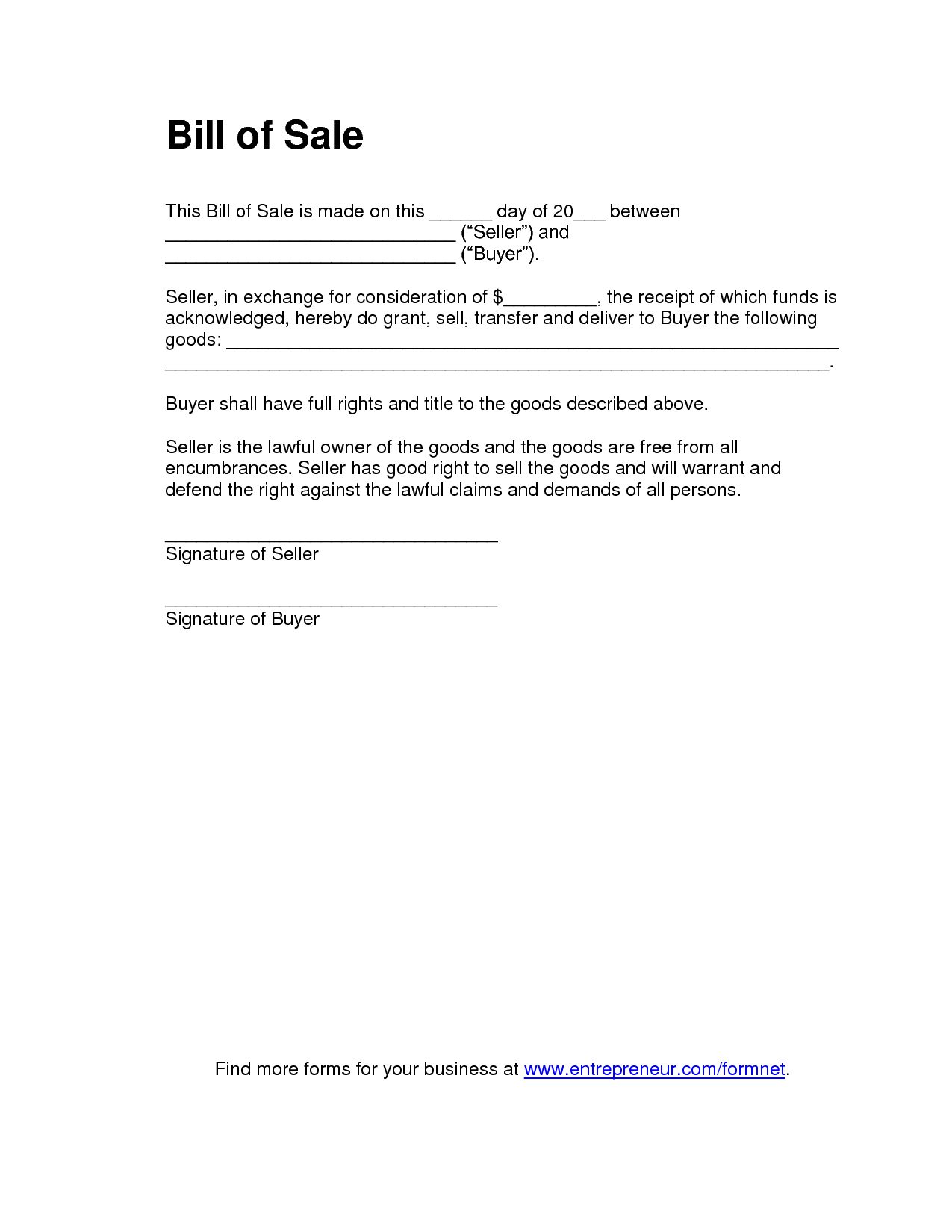 Printable Sample Tractor Bill Of Sale Form | Laywers Template Forms - Find Free Printable Forms Online