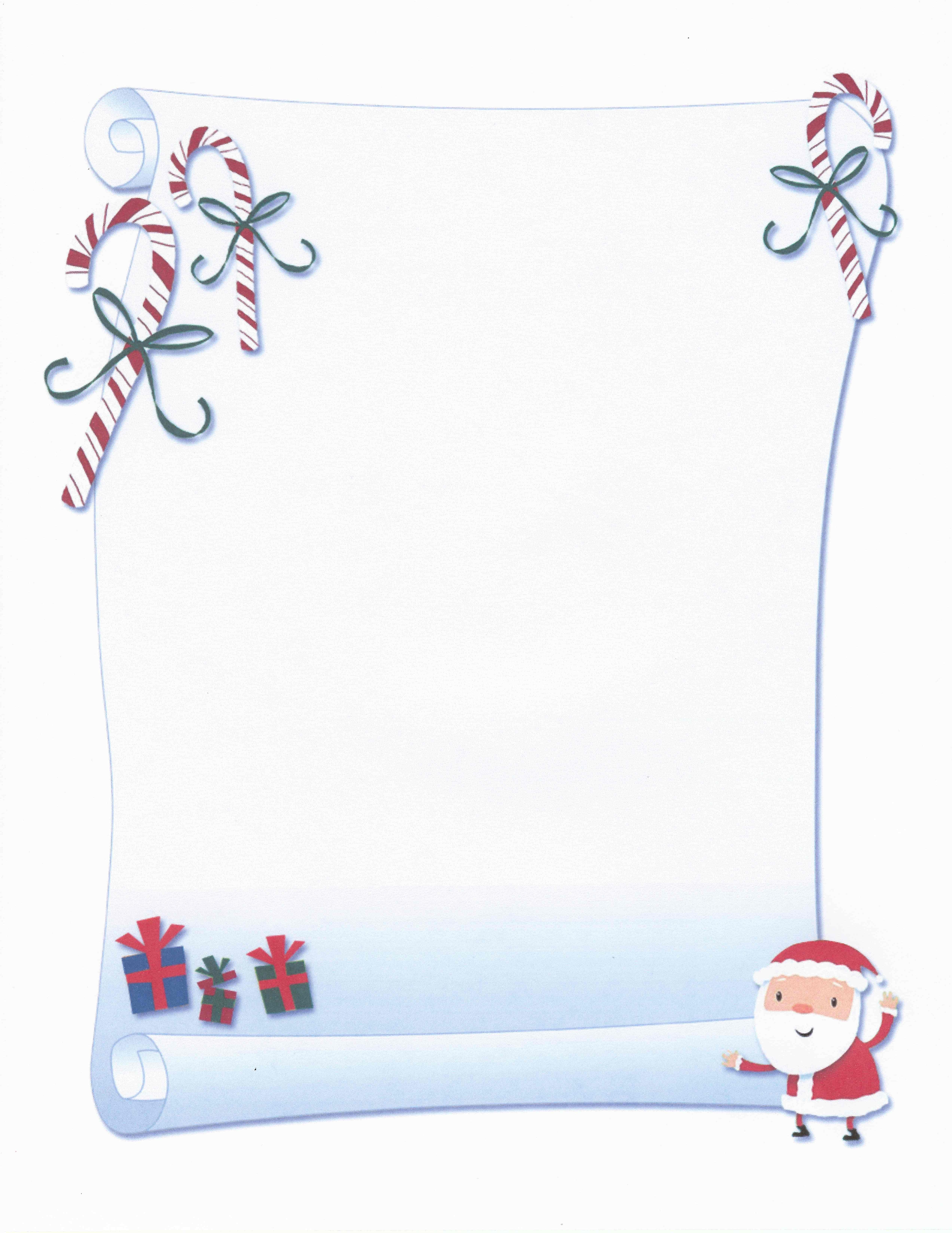 Printable Santa Scroll Certificate Stationery   Stationary - Free Printable Birthday Scrolls