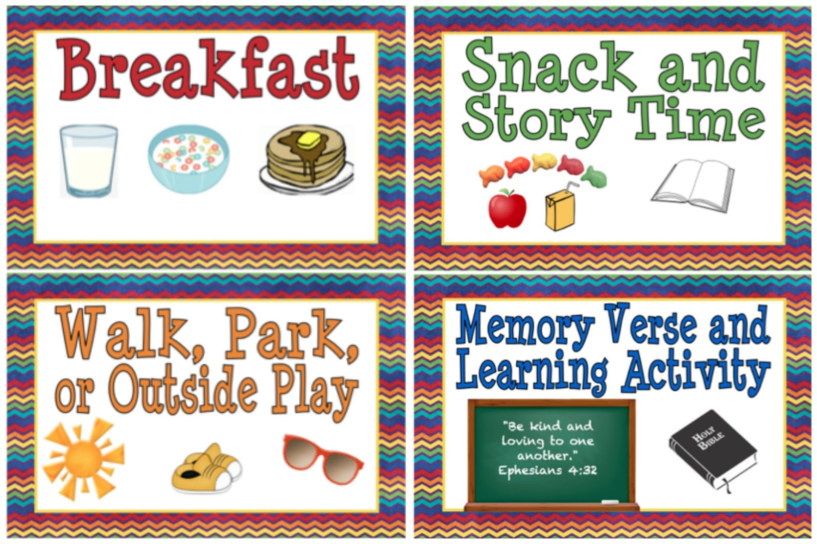 Printable Schedule Cards For Preschool | Download Them Or Print - Free Printable Schedule Cards For Preschool
