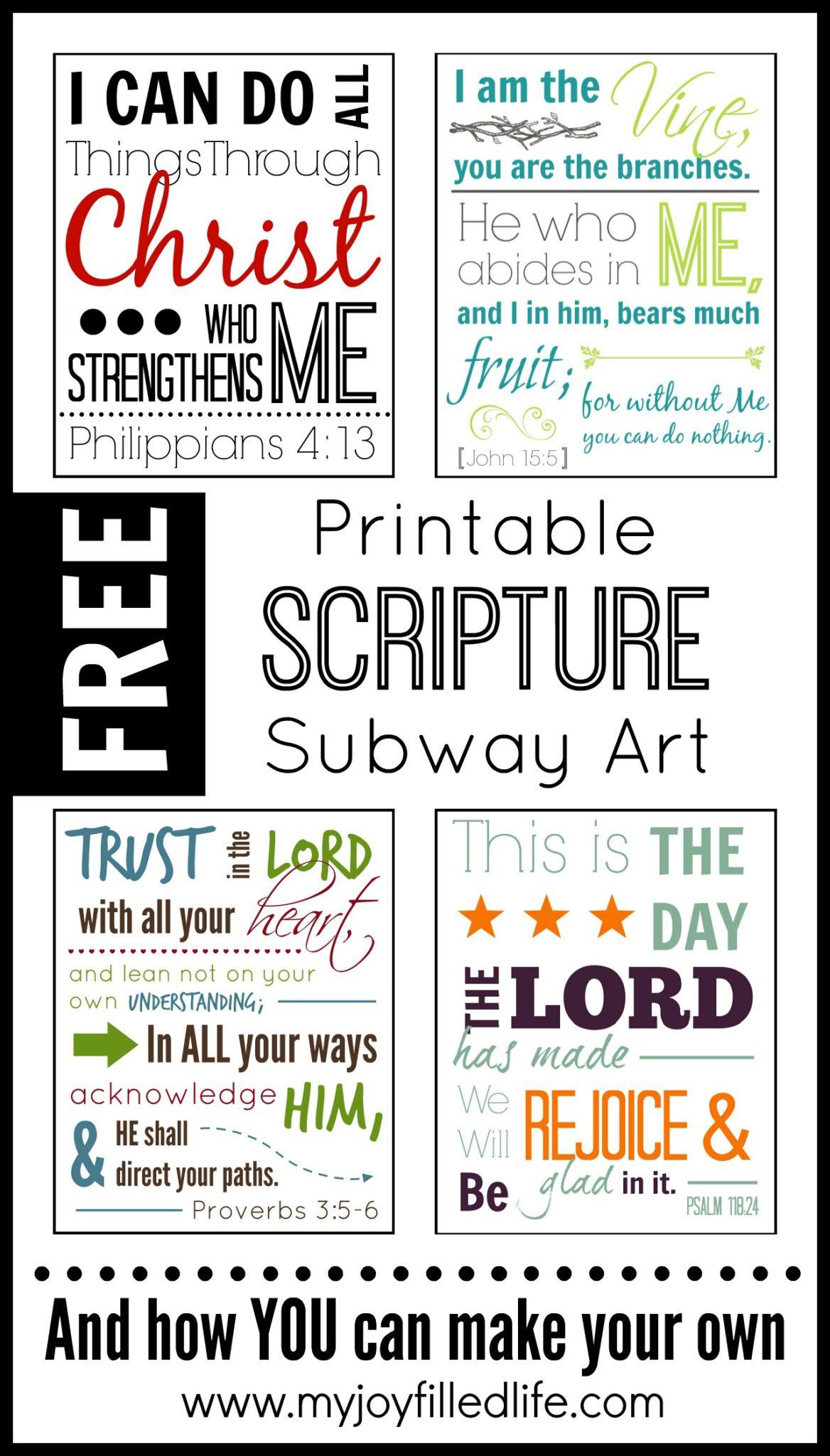 Printable Scripture Subway Art {Free} - My Joy-Filled Life - Free Printable Subway Art Template