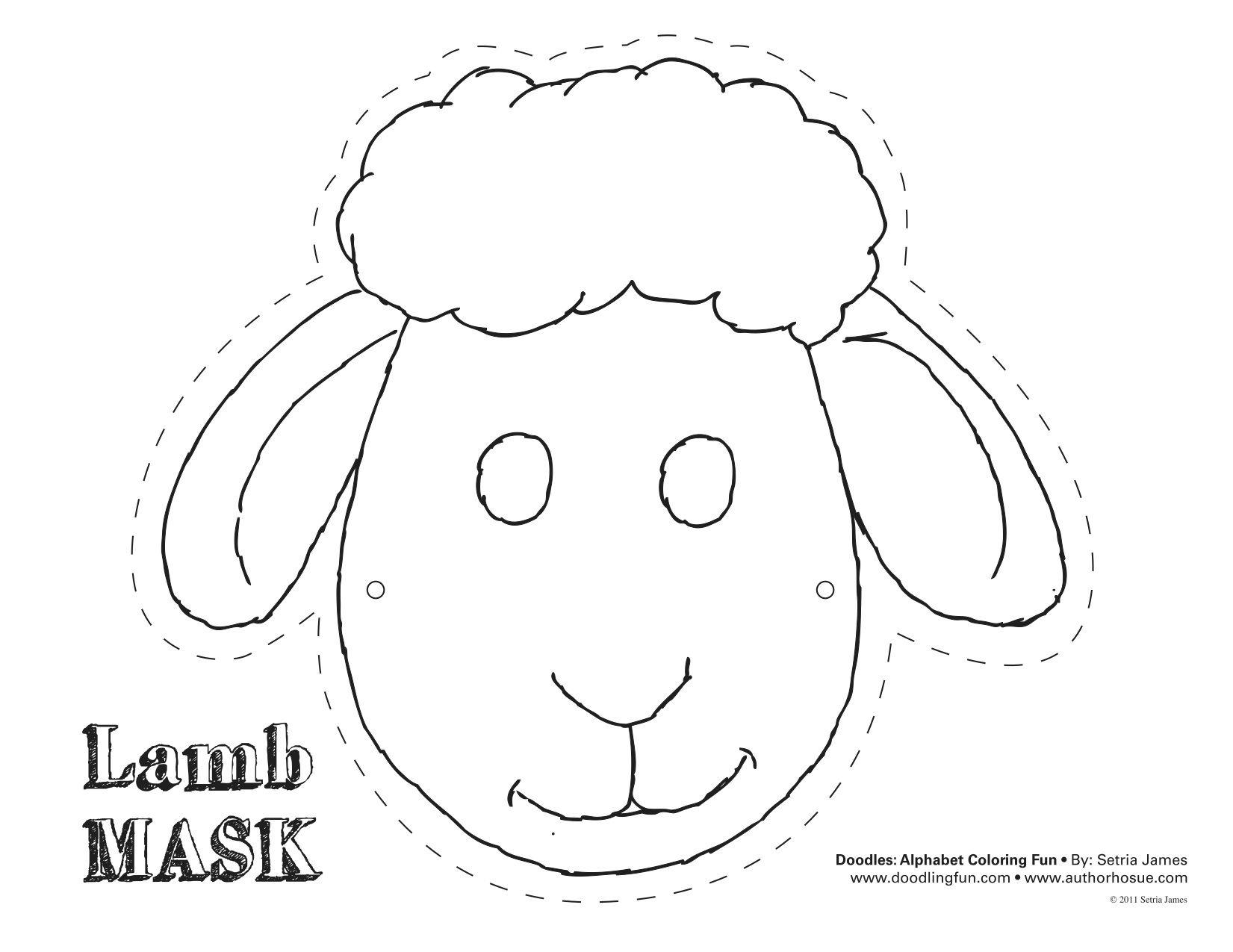 Printable Sheep Mask Template   Art - Free Printable Sheep Mask