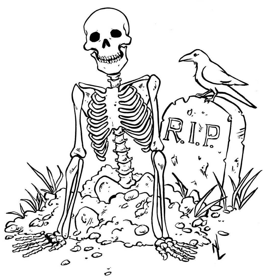 Printable Skeleton Coloring Pages - Coloring Home - Free Printable Skeleton Coloring Pages