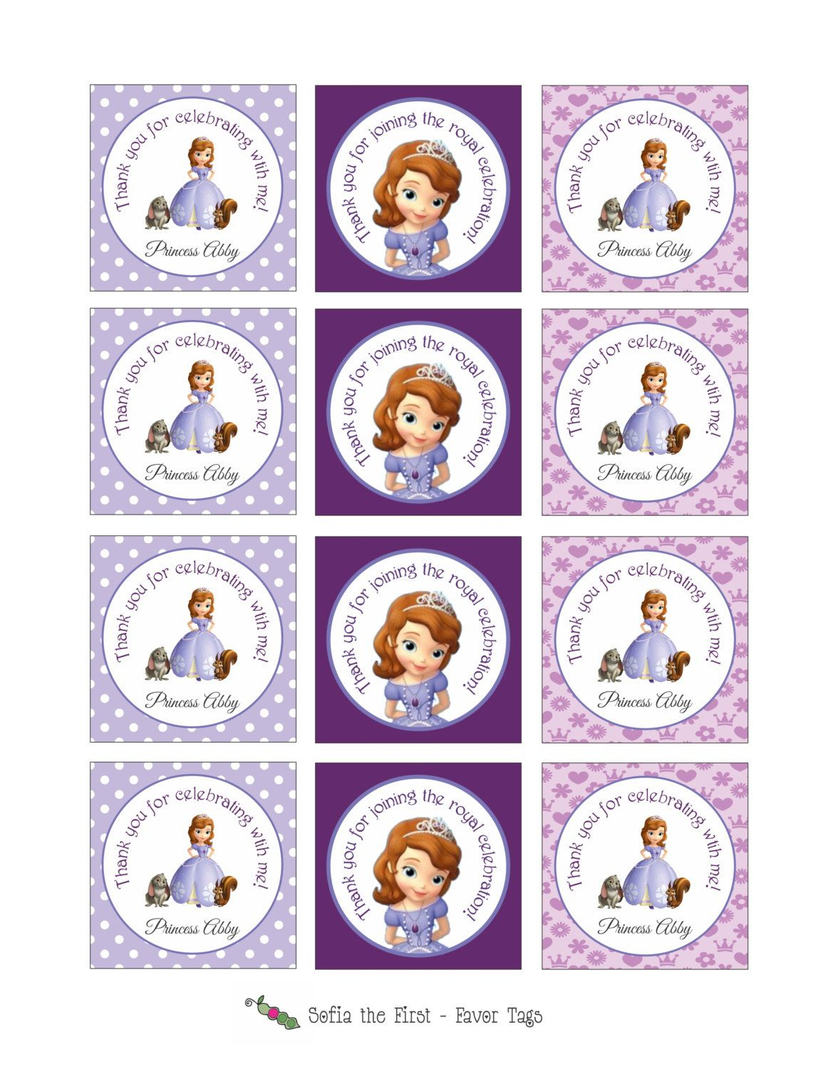Printable Sofia The First Stickers Or Gift Tags (Great To Be Used As - Sofia The First Cupcake Toppers Free Printable