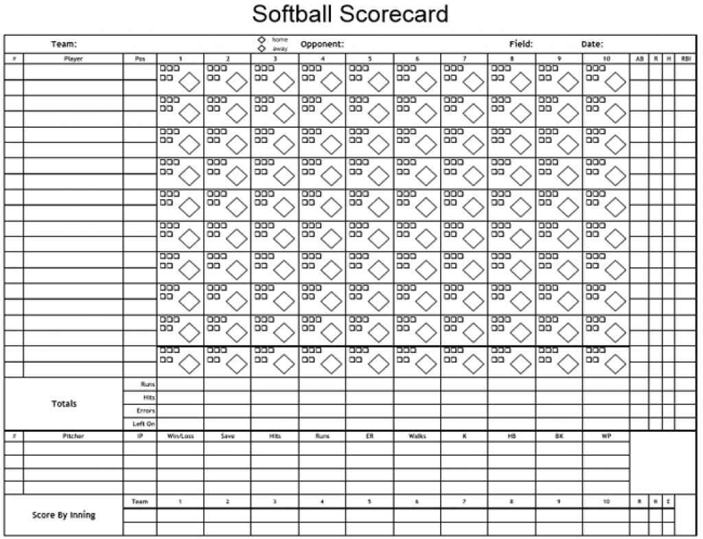 picture regarding Printable Softball Score Sheet called Printable Softball Rating Sheet Printable Sheets - No cost