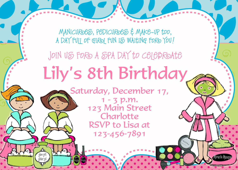 Printable Spa Birthday Party Invitations | Spa At Home | Pinterest - Free Printable Spa Party Invitations Templates