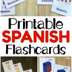 Printable Spanish Flashcards   Look! We're Learning!   Free Printable Picture Dictionary For Kids