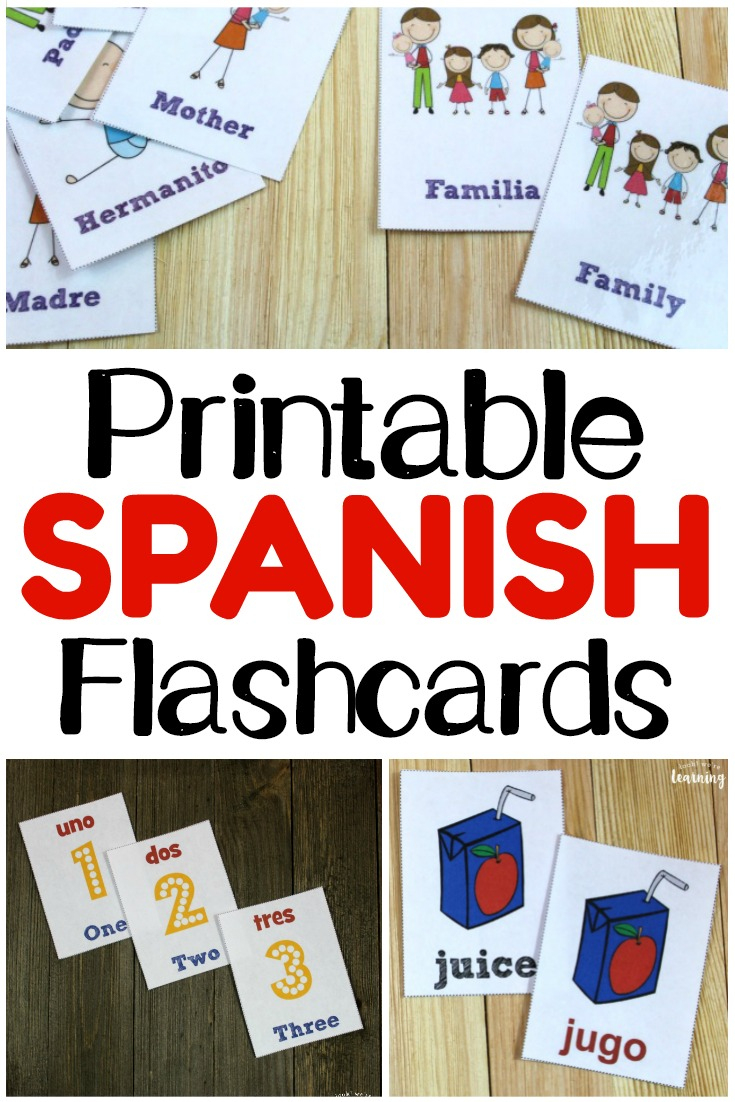 Printable Spanish Flashcards - Look! We're Learning! - Free Printable Picture Dictionary For Kids