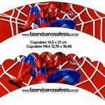 Printable Spiderman Cupcake Wrappers | Free Printable Cupcake   Free Printable Spiderman Pictures