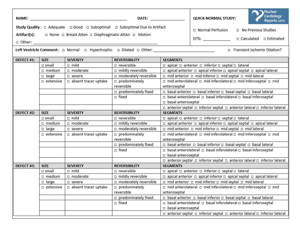 Printable Stress Test Worksheets & (Nuclear) Cardiology Lab - Free Printable Stress Test