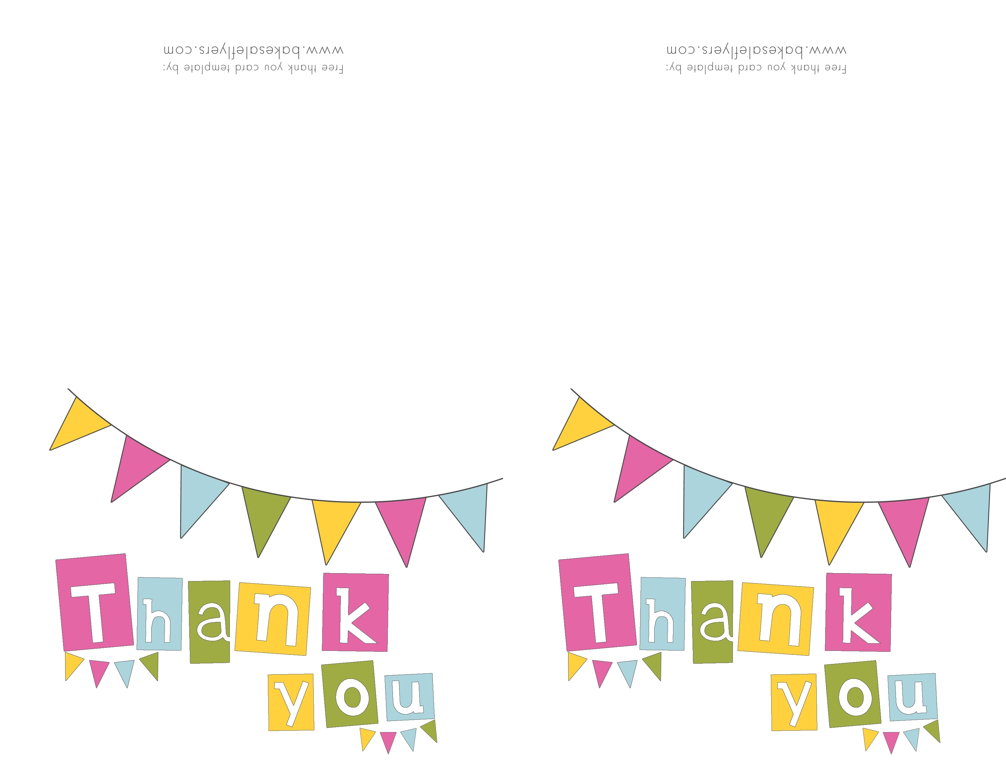 Printable Thank You Cards Template | Reactorread - Thank You Card Free Printable Template