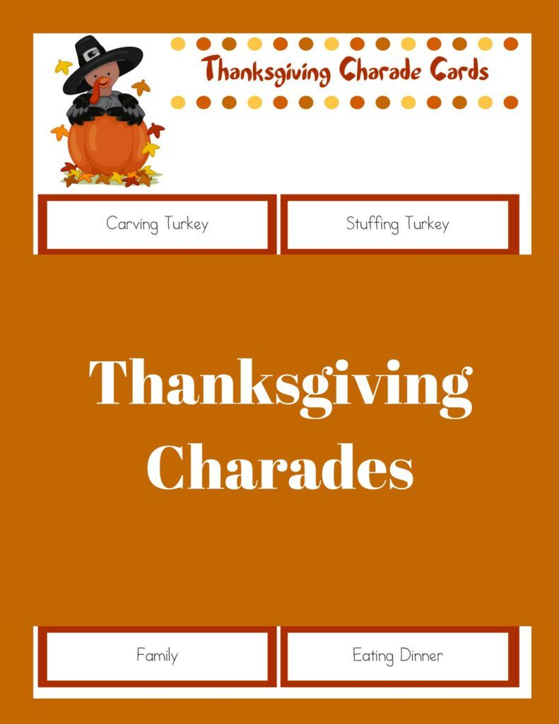 Printable Thanksgiving Games: Thanksgiving Charades | The Best Of - Free Printable Thanksgiving Games For Adults