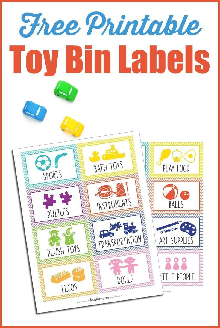 Printable Toy Bin Labels That Are Cute And Free | Preschool Teaching - Free Printable Preschool Teacher Resources