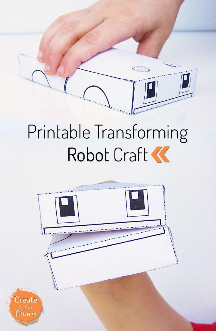 Printable Transforming Robot Craft   Free Printables   Crafts For - Free Printable Crafts