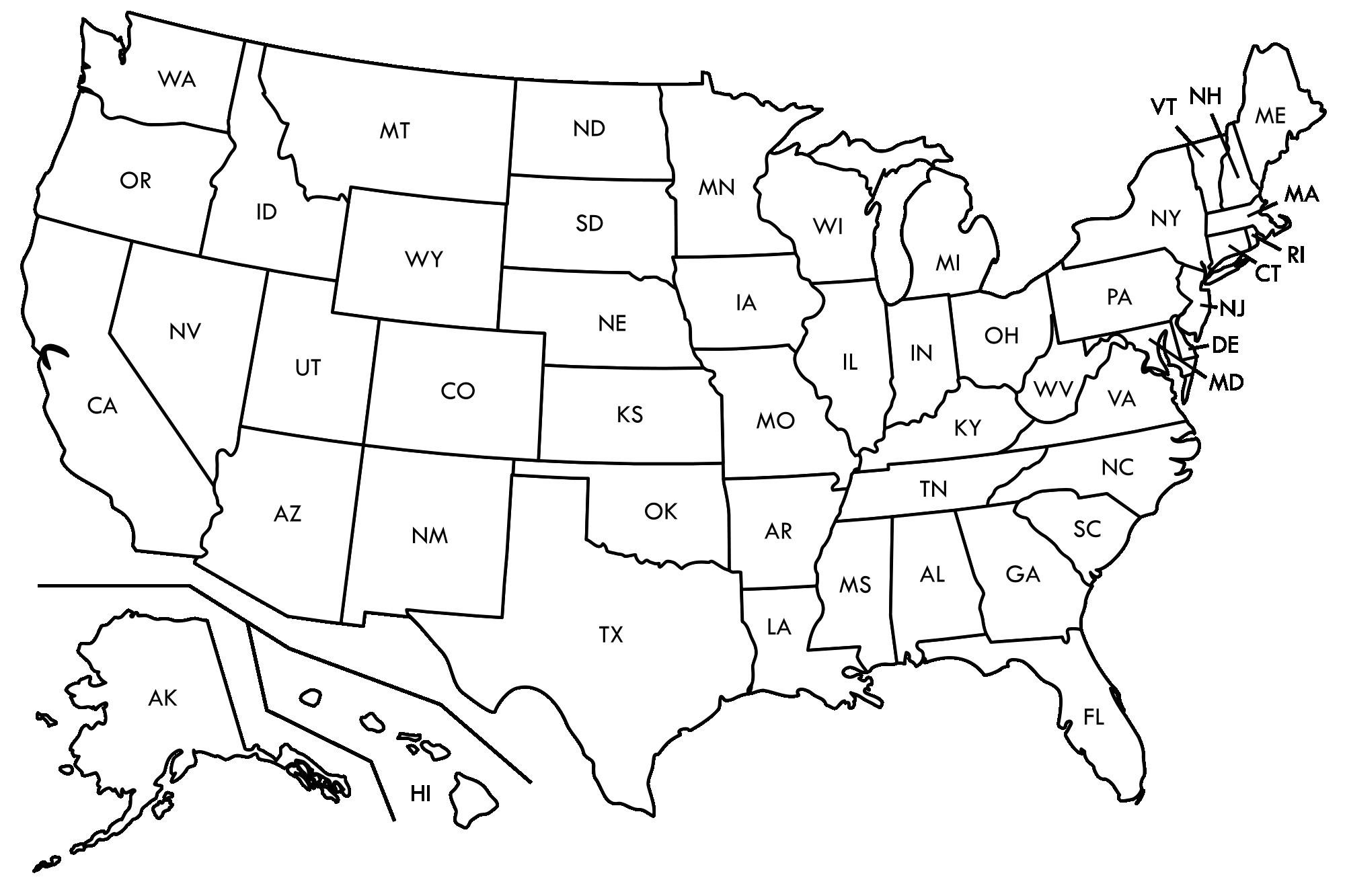 Printable Us Map Outline Free Save Free Printable Us Map Blank - Free Printable State Maps