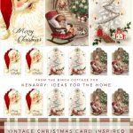 Printable Vintage Christmas Gift Tags | Christmas/winter Decorating   Free Printable Vintage Christmas Tags For Gifts