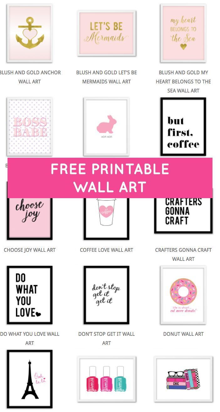 Printable Wall Art - Print Wall Decor And Poster Prints For Your - Free Printable Wall Decor