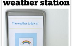 Printable Weather Station For Preschool – No Time For Flash Cards – Free Printable Weather Chart For Preschool