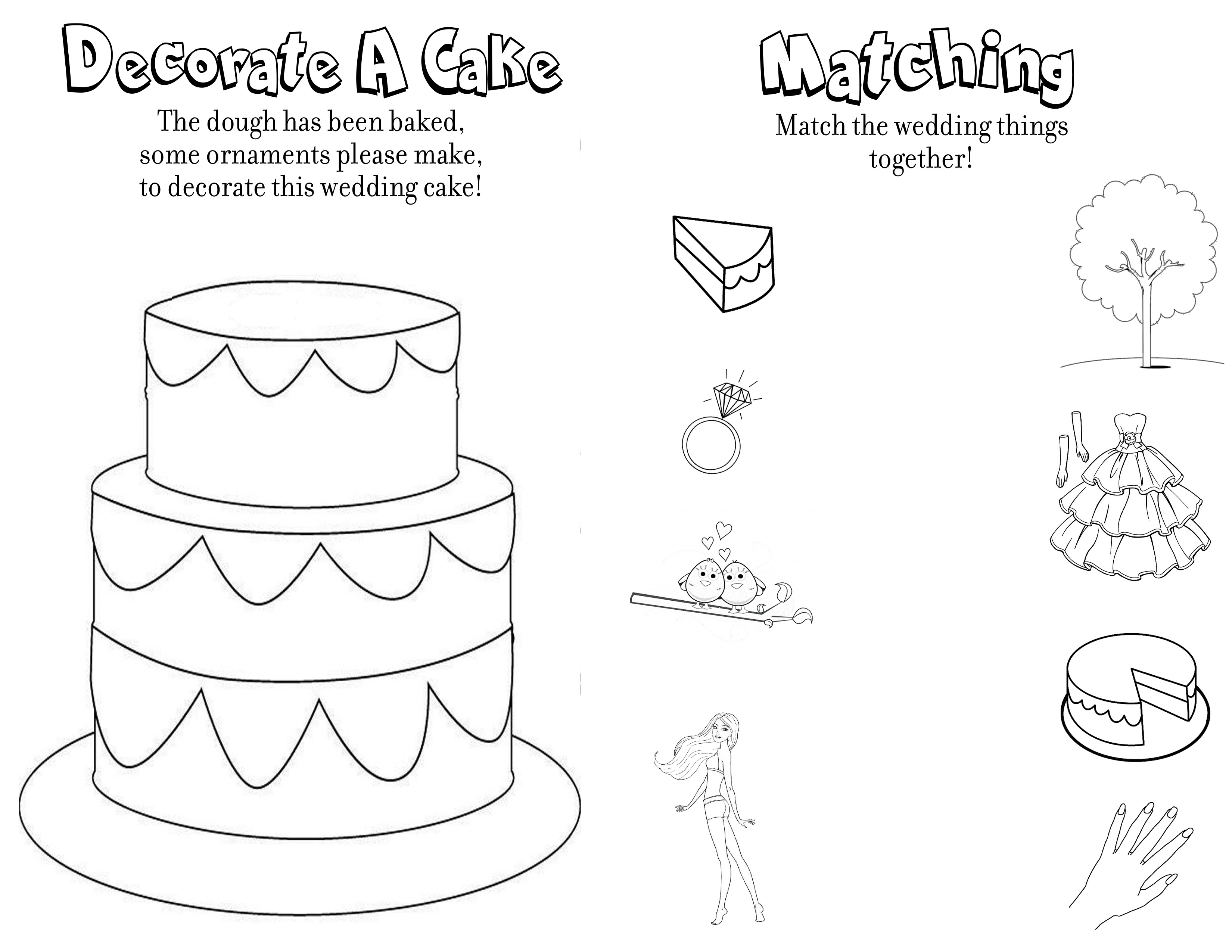 Printable Wedding Coloring Book Free | Coloring Pages - Free Printable Personalized Wedding Coloring Book