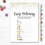 Printable Wedding Emoji Pictionary Bridal Shower Game Bridal | Etsy   Wedding Emoji Pictionary Free Printable