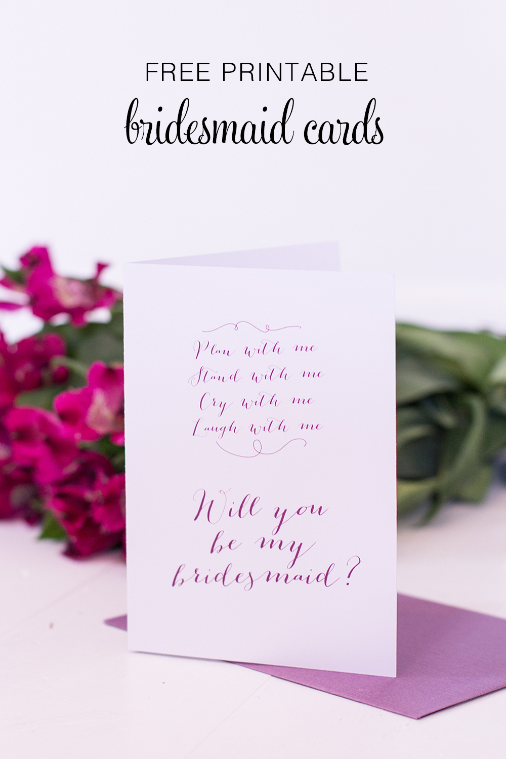 Printable Will You Be My Bridesmaid Cards - Polka Dot Bride - Free Printable Will You Be My Bridesmaid Cards